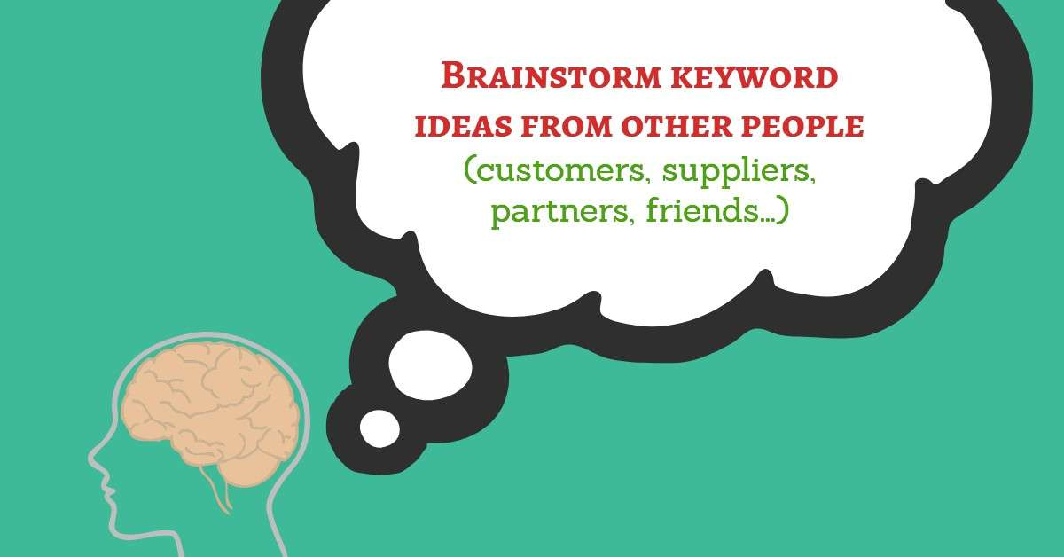 Brainstorm keyword ideas from other people