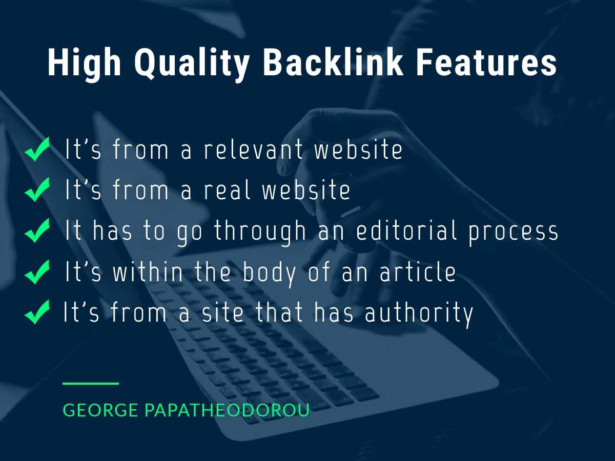 High Quality Backlinks Features