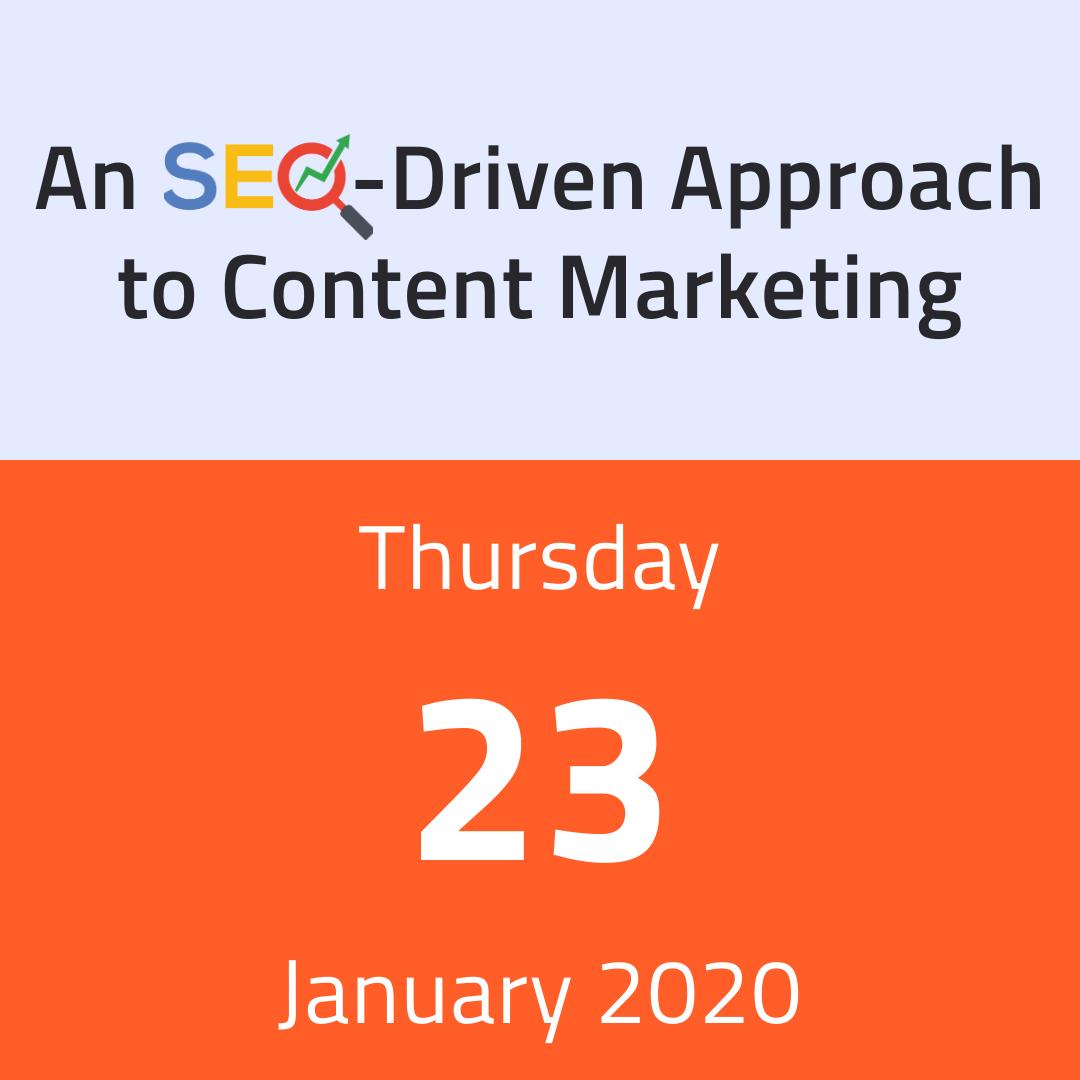 SEO Training - 23 January 2020