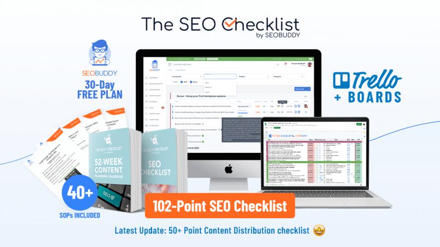 SEO Checklist by SEO Buddy
