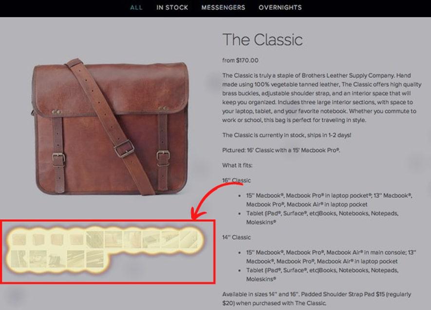 Bros Leather Supply Screenshot